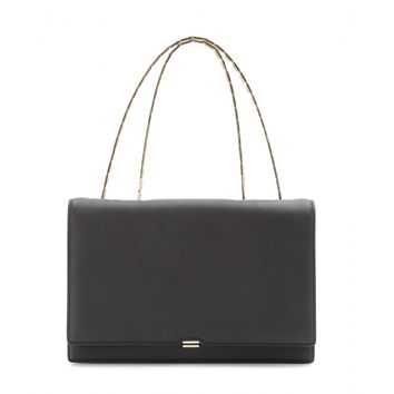victoria beckham - hexagonal chain leather shoulder bag