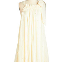 Ryu Vintage Inspired Sleeveless Tent In Love with a Pearl Dress