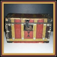 Lily White Starch Co. Dome Advertising Trunk - Pre 1906 (item #1294346)