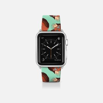 curled fox polka mint apple watch band Apple Watch Band (38mm)  by Sharon Turner | Casetify