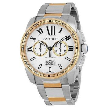 Cartier W7100042 Calibre de Cartier Men's Chronograph Automatic Watch