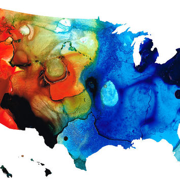 United States Of America Map 4 - Colorful Usa