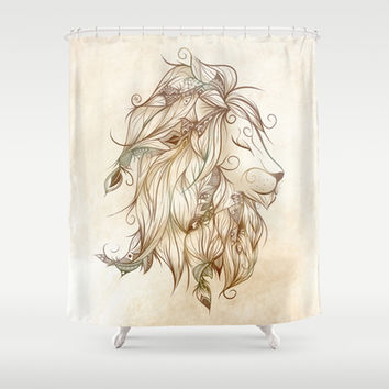 Poetic Lion Shower Curtain by LouJah | Society6