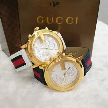 GUCCI Tide brand fashion elegant men and women quartz watch F