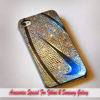 Nike Logo Basketball Glitter Gold - iPhone 4s, 5S, 5C, samsung galaxy s3,s3 mini, s4, s4 mini and iPod 4, 5 casee