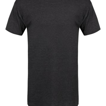 Men's Dark Heather Grey Long Body Urban Tee