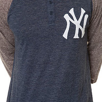The New York Yankees Hustle Play Henley in Blue