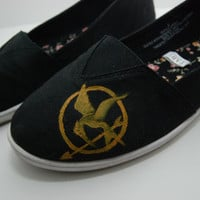 Hunger Games Custom Shoes by KellismCo on Etsy