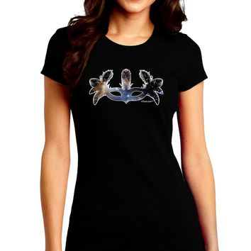Galaxy Masquerade Mask Juniors Crew Dark T-Shirt by TooLoud
