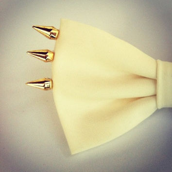 Exclusive Edition  -Gold Spikes Bow - hair bow