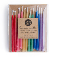 rainbow beeswax candles