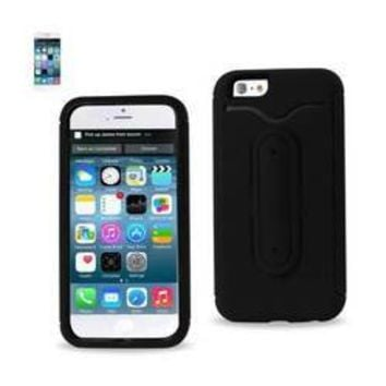 REIKO IPHONE 6 HYBRID HEAVY DUTY CASE WITH BENDING KICKSTAND IN BLACK