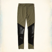 Girls High-Rise Moto Jersey Leggings | Girls New Arrivals | HollisterCo.com