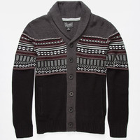 Retrofit Placid Mens Cardigan Black  In Sizes