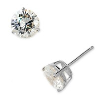 Women's Nordstrom Boxed Round 6ct tw Cubic Zirconia Earrings - Clear Cz/