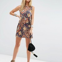 ASOS | ASOS Mixed Festival Print Smock Dress at ASOS