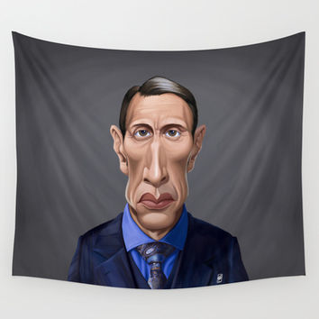 Celebrity Sunday ~ Mads Mikkelsen Wall Tapestry by Rob Snow