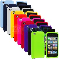 Color Hard Snap-On Rubberized Case Cover Accessory for iPod Touch 4th Gen 4G 4