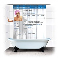 Social Shower Curtain | spinninghat.com