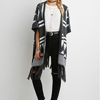 Geo-Patterned Dolman Cardigan