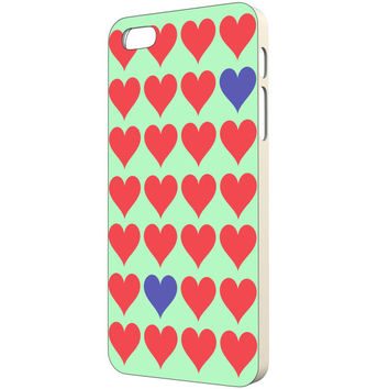 Heart iPhone Case - FREE Shipping to USA red hearts purple heart pattern love iphone 5 case cute iphone 4s case heart art print