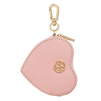 Tory Burch Heart Zip Key Fob