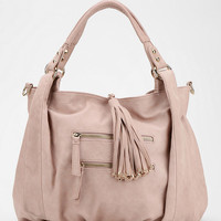 Ecote Tasseled Vegan Leather Satchel Bag