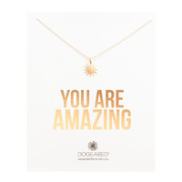 You Are Amazing Starburst Necklace, Gold Dipped | Dogeared
