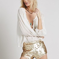 Free People Womens Katrin Sequin Short