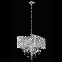 Shop Warehouse of Tiffany 4-Light Crystal Chandelier at Lowes.com