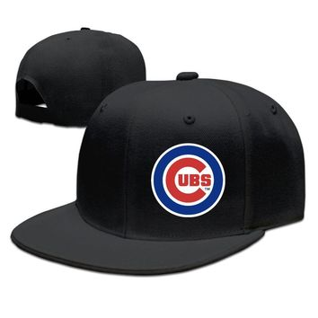 Official Chicago Cubs Logo Funny Unisex Adult Womens Hip-hop Cap Mens Fitted Hats