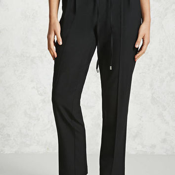 Pleated Drawstring Trousers