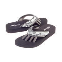 Pedi Couture Glam Pedicure Sandals, M (7-8 US), PEWTER SEQUIN