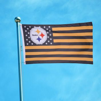 High Quality144x96cm Polyester Cloth Pittsburgh Steelers star stripe Premium Football Team Flag Party Festival Banner Home Decor