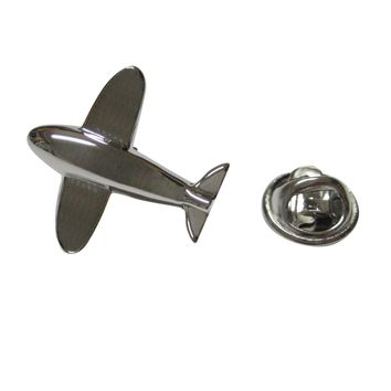 Silver Toned Plane Lapel Pin