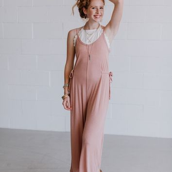 Jenni Sleeveless Wide Leg Jumpsuit - Rose
