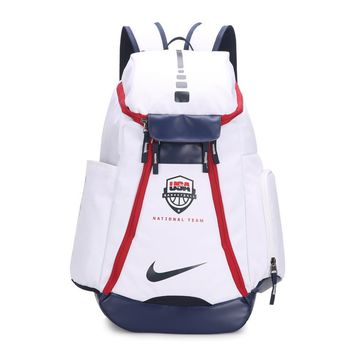 DCCK2 263 Nike USA Olympic version of NBA star KD durant backpack 54-30-23cm White Red