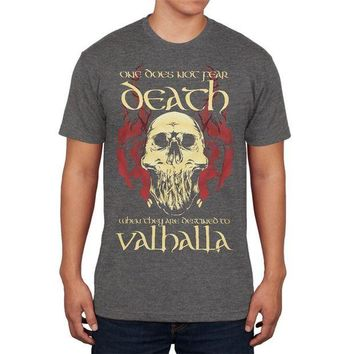 CUPUPWL Viking Death Valhalla Mens Soft T Shirt