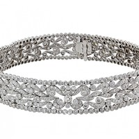 Diamond Choker Necklace in Platinum #501998