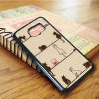 Cats Cat Pattern Animal Samsung Galaxy S6 Edge Case