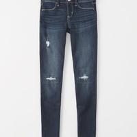 girls ripped pull-on jean leggings | girls bottoms | Abercrombie.com