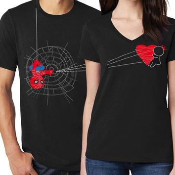 2019 Couple Shirt Valentine girl Women Tshirt Plus Size Cute Women Tops Printed. 1pc
