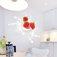 Kitchen wall art - Strawberry´s Splash - Wall Decals , Home WallArt Decals