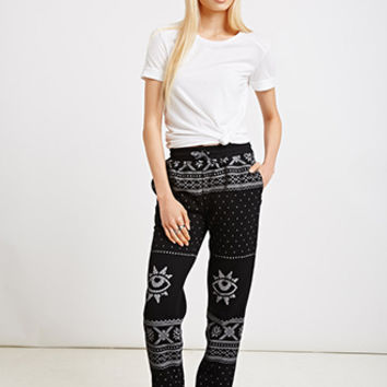 Reason Letter Print Sweatpants