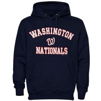 Washington Nationals MLB Navy Fastball Fleece Pullover Hoodie