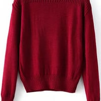 Red Knitted Sweater