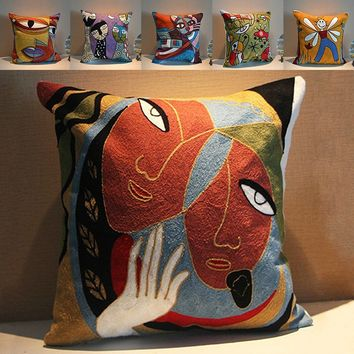 Van Gogh Painting Embroidery Cushion Cover Abstract Throw Pillow Cases Sofa Decoration Gifs