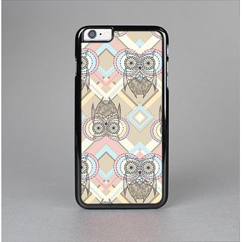 The Vintage Abstract Owl Tan Pattern Skin-Sert Case for the Apple iPhone 6 Plus