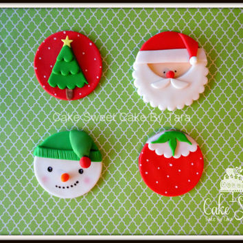 Holidays cupcake toppers set