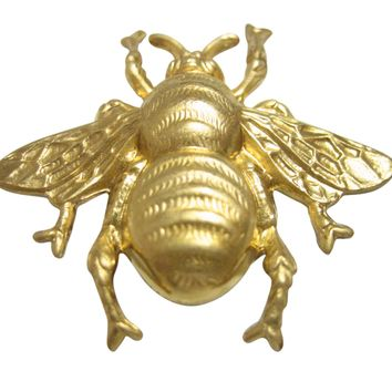 Gold Toned Large Bee Bug Insect Pendant Magnet